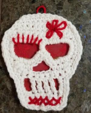 Crocheted Sugar Skull