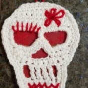 Crocheted Sugar Skull