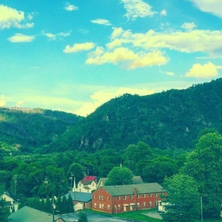 The mountain town of Hot Springs, NC
