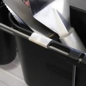Repairing a Broken Dish Drainer - repaired silverware holder