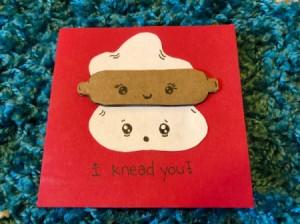 """I Knead You"" Card - finished card"