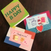 Redesigned Greeting Card  - three homemade redesigned cards
