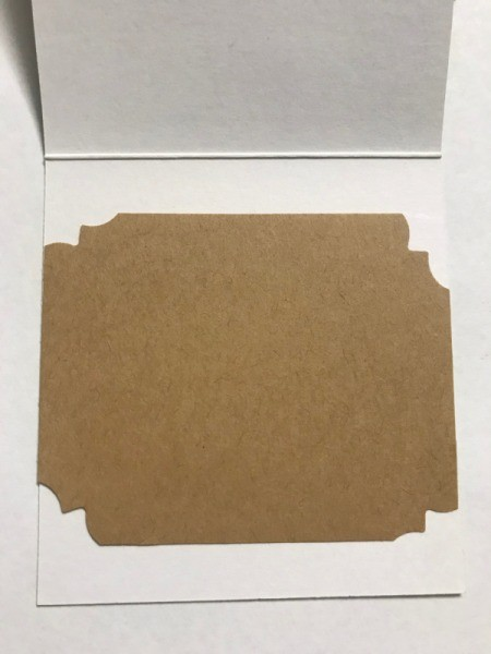 Redesigned Greeting Card - similar piece of kraft paper cut for the inside
