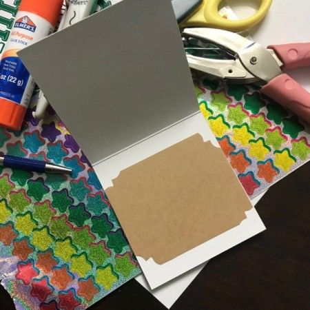 Redesigned Greeting Card - paper glued in place