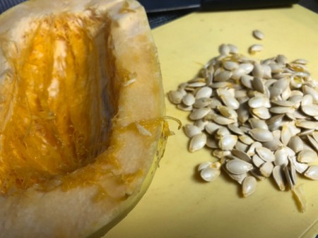 seeds removed from Spaghetti Squash
