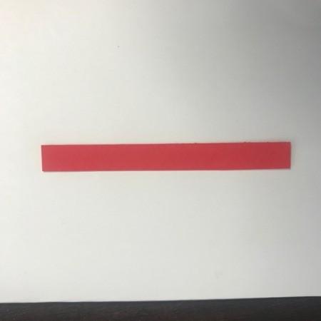 Valentine Wreath Card - cut out a thin rectangular strip of paper