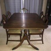 Value of Dining Room Table and Chairs