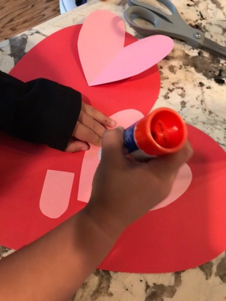 Valentine's Day Dog - have toddler glue down all of the pieces  starting with the ears