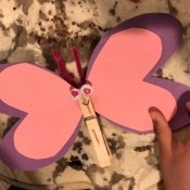 Imaginary Clothespin Flying Butterfly - wings could be decorated at this point
