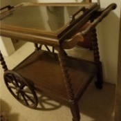 Value of a Stickley Brothers Antique Tea Cart - tea cart