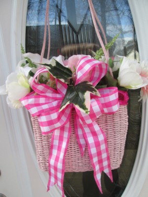 Straw Handbag Planter