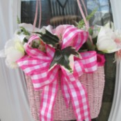 Straw Handbag Planter