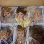 Value of Ashton Drake Doll's Heads - heads in a box