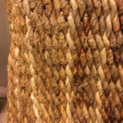 Repairing Cat Scratches on a Banana Leaf Chair - scratches on a woven chair