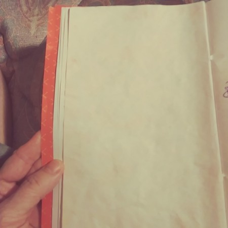A homemade notepad with scented pages.