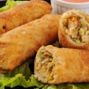 Easy Chicken Egg Rolls on a plate.