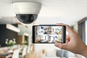 Home Security Camera shown on iPhone