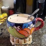 Wine Cork Coaster - soup cup on coaster