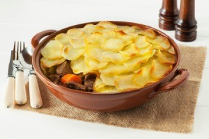 A traditional Lancashire hotpot.