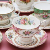 A collection of vintage china cups.