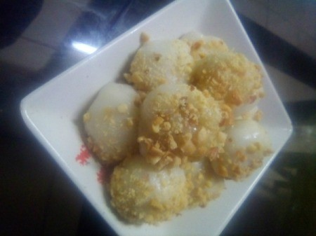 Sticky Rice Balls on plate