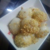 Sticky Rice Balls on plate