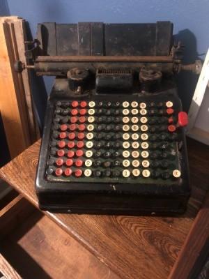 Value of a Vintage Adding Machine - old mechanical adding machine