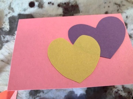 Cutout Heart Valentines - position them on the front of your card to resemble a caterpillar