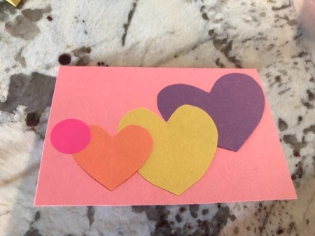 Cutout Heart Valentines - continue by adding a circle or dot sticker for the face