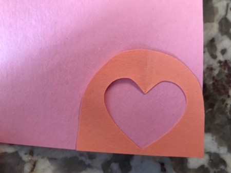 Cutout Heart Valentines - glue down the remnants of your hearts