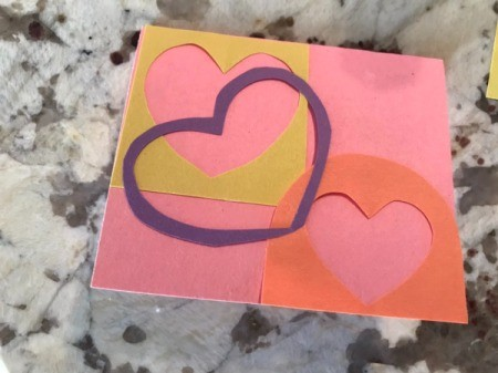 Cutout Heart Valentines - one can be trimmed and glued down on top