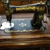 Value of a White Family Sewing Machine - treadle sewing machine
