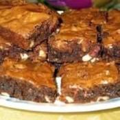 plate of brownies