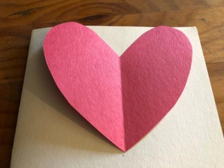 Heart Shaped Fox Card - cut out the heart