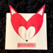 Heart Shaped Fox Card - finished card front