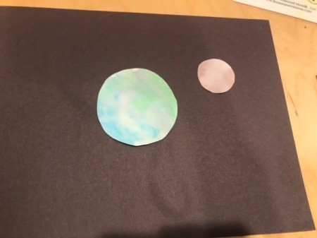 Planetary Artwork - Earth and second planet