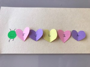 Heart Shaped Caterpillar Name Puzzle