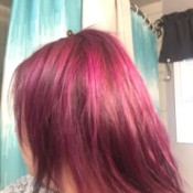 Toning Down Hair Dye - bright pinkish purple hair after dyeing
