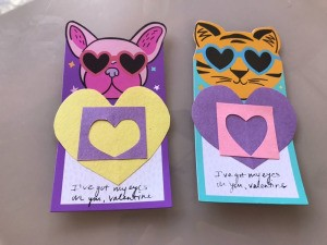 """Eyes On You"" Valentines - finished cards"