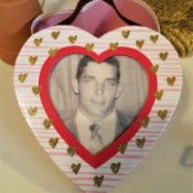 Decorated Heart Box Crafts - photo heart lid