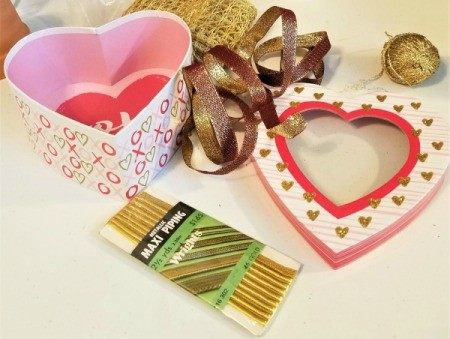 Decorated Heart Box Crafts