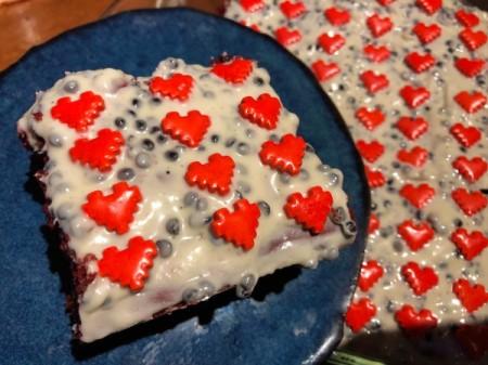 Sweetheart Crunch Cake on plate