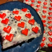 Sweetheart Crunch Cake on plate