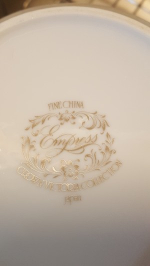 Value of Crown Victoria China - bottom of a plate