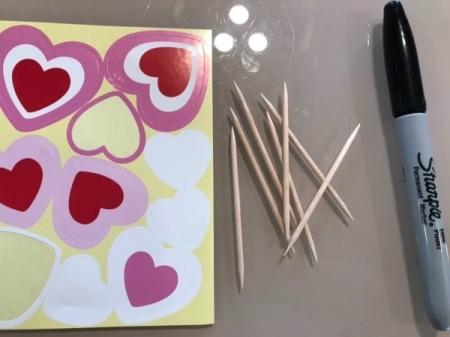 Valentine's Day Plant Stake - supplies