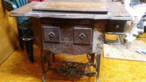 Age of a Domestic Treadle Sewing Machine - old treadle machine