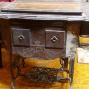 Age of a Domestic Treadle Sewing Machine - old treadle machine
