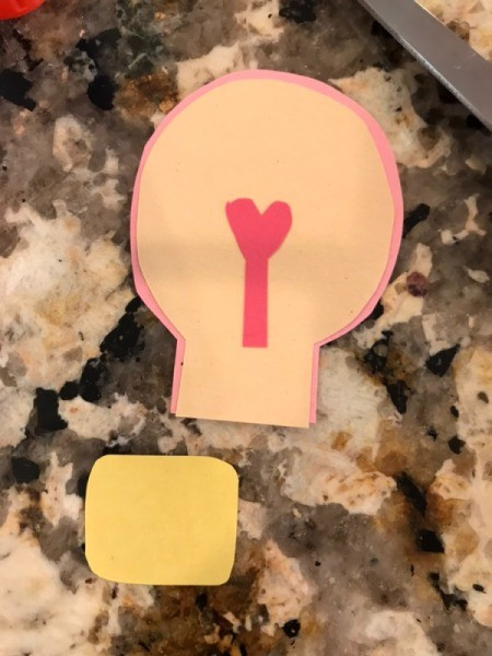 """""""I love you a WATT!"""" Greeting Card - cut out a rounded square for the screw on base"""