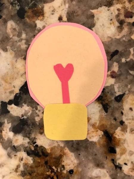 """""""I love you a WATT!"""" Greeting Card - glue on the base"""