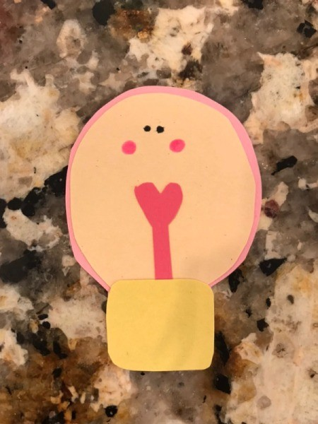 """""""I love you a WATT!"""" Greeting Card - with pink marker add cheeks"""